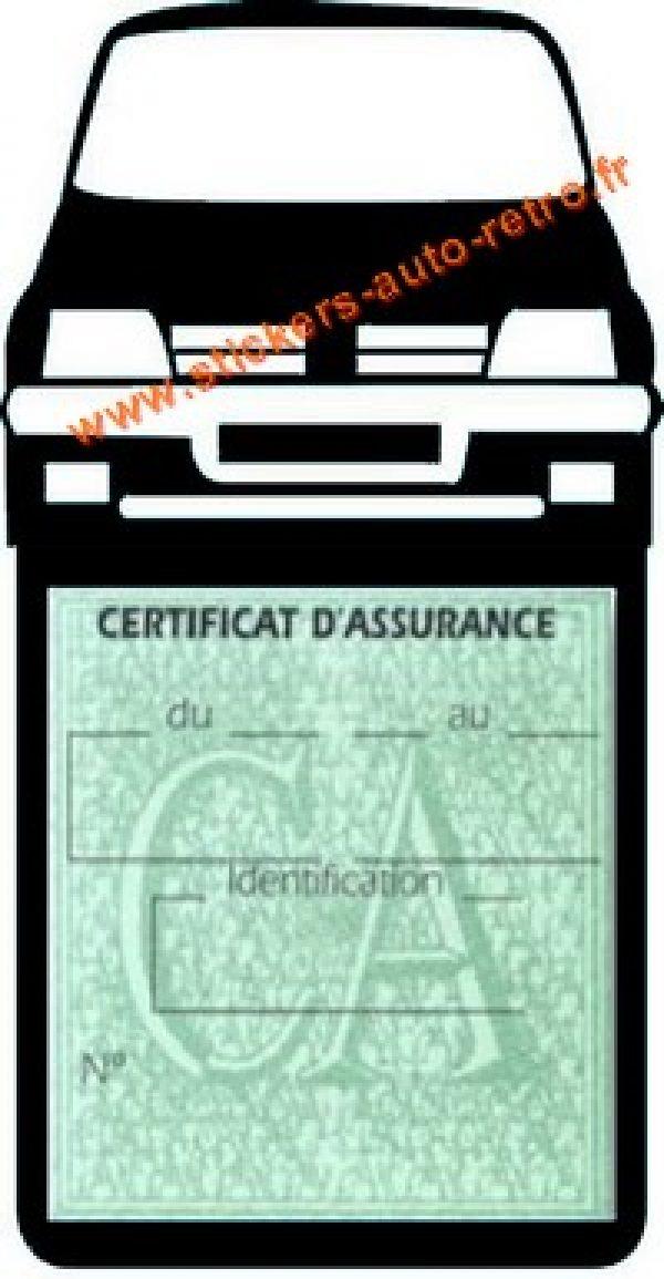 Etui vignette assurance voiture 205 GTI Peugeot