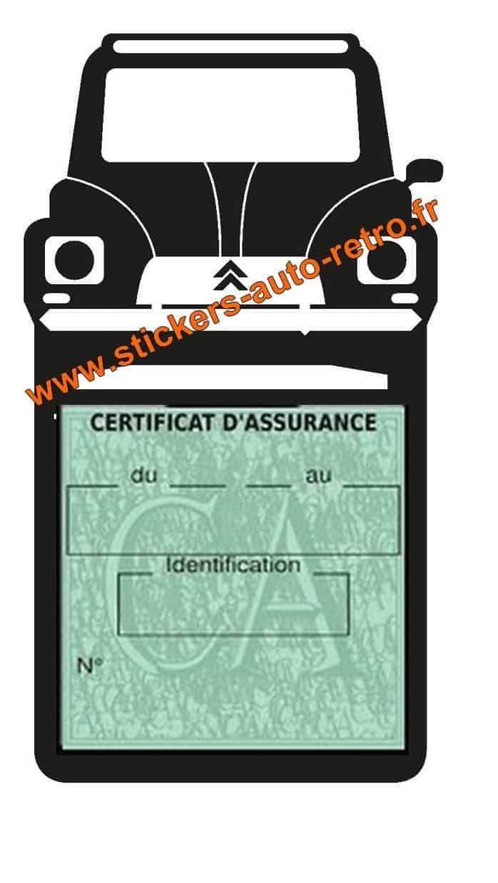 etui assurance citroen porte vignette adh sif assurance auto retro mobile. Black Bedroom Furniture Sets. Home Design Ideas